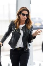 CINDY CRAWFORD at Heathrow Airport to Los Angeles 04/23/2018