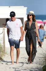 CINDY CRAWFORD Out at a Beach in Miami 03/31/2018