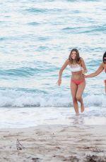 CLAUDIA ROMANI and ANA G in Bikini at a Beach in Miami 04/22/2018