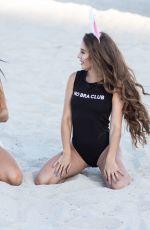 CLAUDIA ROMANI and MELISSA LORI in Bikinis at a Beach in Miami 04/01/2018