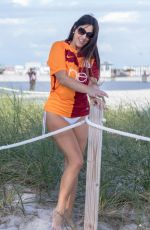 CLAUDIA ROMANI in a Galatasaray Jersey at a Beach in Miami 04/29/2018