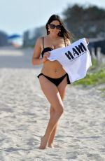 CLAUDIA ROMANI in Bikini Bottom on the Beach in Miami 04/13/2018