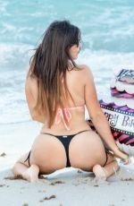 CLAUDIA ROMANI in Bikini Celebrates Her Birthday at South Beach 04/14/2018