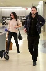 COURTENEY COX and Johnny McDaid at LAX Airport in Los Angeles 04/20/2018