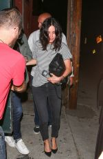 COURTENEY COX Night Out in Beverly Hills 04/09/2018