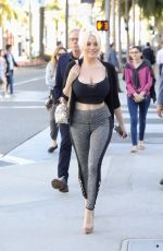 COURTNEY STODDEN Out Shopping in Beverly Hills 04/25/2018
