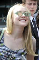 DAKOTA FANNING Arrives at Directors Guild of America in Los Angeles 04/15/2018