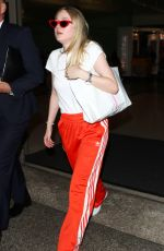 DAKOTA FANNING at Los Angeles International Airport 04/20/2018