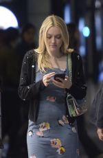 DAKOTA FANNING Night Out in Rome 04/19/2018