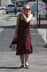 DAKOTA FANNING Out and About in Beverly Hills 04/23/2018
