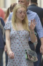 DAKOTA FANNING Out and About in Rome 04/16/2018