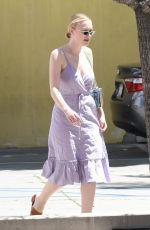 DAKOTA FANNING Out Shopping in Los Angeles 04/21/2018
