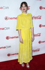 DAKOTA JOHNSON at Big Screen Achievement Awards at Cinemacon in Las Vegas 04/26/2018