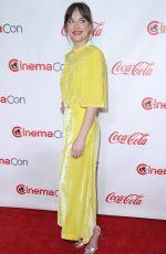 DAKOTA JOHNSON at Big Screen Achievement Awards at Cinemacon in Las Vegas 04/26/2018