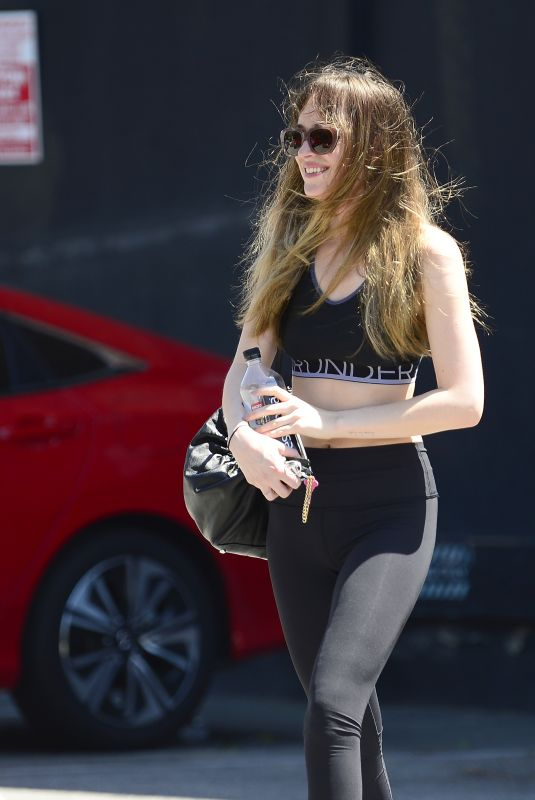 DAKOTA JOHNSON Leaves Yoga Class in Los Angeles 04/23/2018