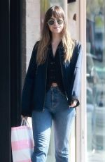 DAKOTA JOHNSON Out Shopping in Los Angeles 04/04/2018
