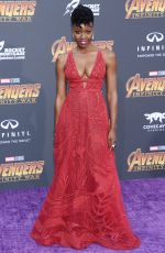 DANAI GURIRA at Avengers: Infinity War Premiere in Los Angeles 04/23/2018