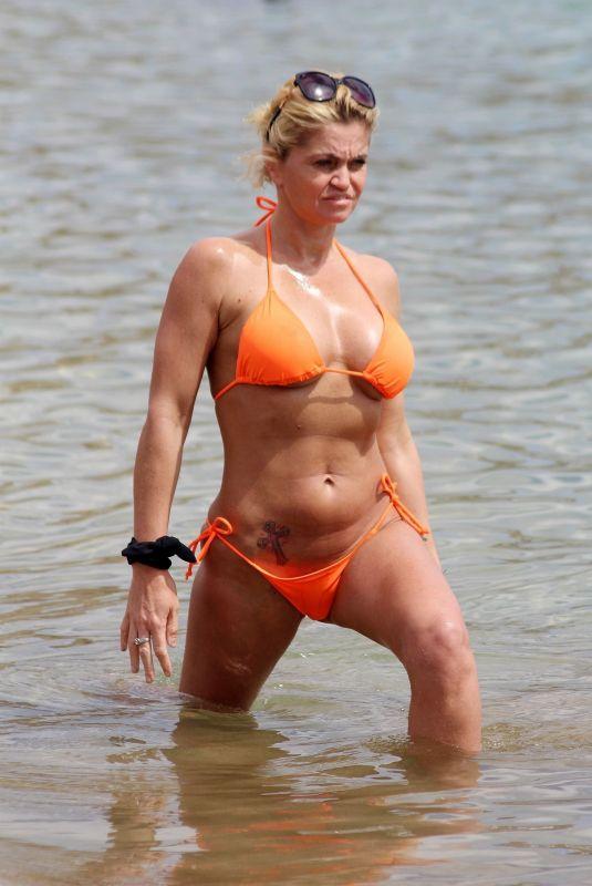 DANIELLA WESTBROOK in Bikini on the Beach in Marbella 04/24/2018
