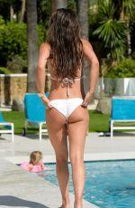 DANIELLE LLOYD in White Bikini at a Pool in Marbella 04/10/2018