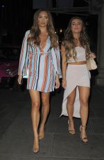 DANNI DYER and GEORGIE CLARKE Leaves Cipriani in London 04/26/2018