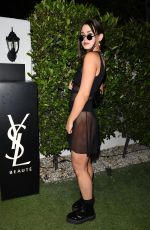 DELILAH HAMLIN and ELLA ANGEL at YSL Beauty Festival Featuring Halsey in Palm Springs 04/12/2018