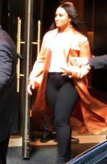 DEMI LOVATO leaves Her Hotel in New York 04/02/2018