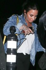 DEMI LOVATO Leaves No Vacancy at Hotel Juniper in Los Angeles 04/04/2018