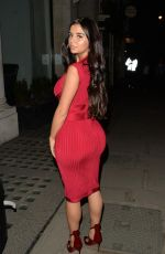 DEMI ROSE MAWBY Leaves Avenue Restaurant in London 04/19/2018