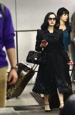 DITA VON TEESE Arrives at Airport in Miami Beach 04/24/2018