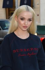 DOVE CAMERON Arrives at a Party at Rodeo Drive Burberry Store in Beverly Hills 04/18/2018