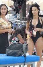 DRAYA MICHELE in Swimsuit on the Set of a Photoshoot in Miami Beach 04/21/2018