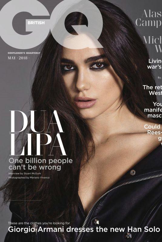 DUA LIPA in GQ Magazine, UK April 2018 Issue