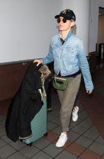 ELIZABETH BANKS at LAX Airport in Los Angeles 04/19/2018