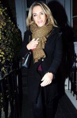 ELIZABETH HURLEY Leaves Her HOME in London 04/12/2018