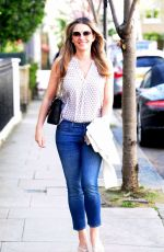 ELIZABETH HURLEY Out Shopping in London 04/18/2018
