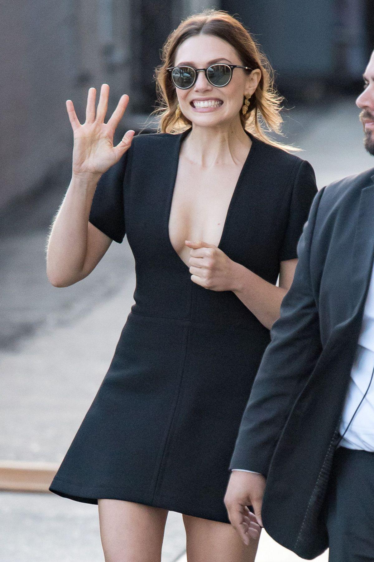 Elizabeth Olsen At Jimmy Kimmel Live In Los Angeles 04 26