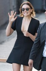 ELIZABETH OLSEN at Jimmy Kimmel Live in Los Angeles 04/26/2018