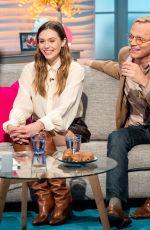 ELIZABETH OLSEN at Lorraine Show in London 04/11/2018