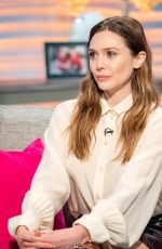 ELIZABETH OLSEN at Lorraine Show in London 04/11/2018