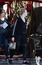 ELLE FANNING Out for Lunch with Friends in Los Angeles 04/12/2018