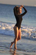 ELLEN ALEXANDER in Swimsuit on the Set of a Photoshoot in Malibu 04/10/2018