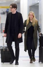 ELLIE GOULDING and Caspar Jopling at JFK Airport in New York 04/01/2018
