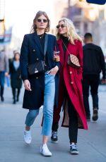 ELSA HOSK and CONSTANCE JABLONSKI Out in New York 03/31/2018