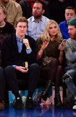 ELSA HOSK at New York Knicks vs Cleveland Cavaliers Game at Madison Square Garden in New York 04/09/2018