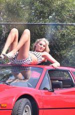 ELSA HOSK on the Set of Ferrari Photoshoot in Los Angeles 04/17/2018