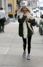 ELSA HOSK Out and About in New York 04/09/2018
