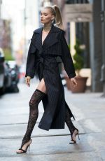 ELSA HOSK Out and About in New York 04/26/2018