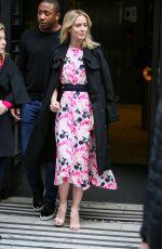 EMILY BLUNT Leaves BBC Studios in London 04/06/2018