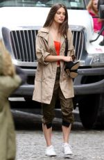 EMILY DIDONATO on the Set of a Maybelline Photoshoot in New York 04/04/2018
