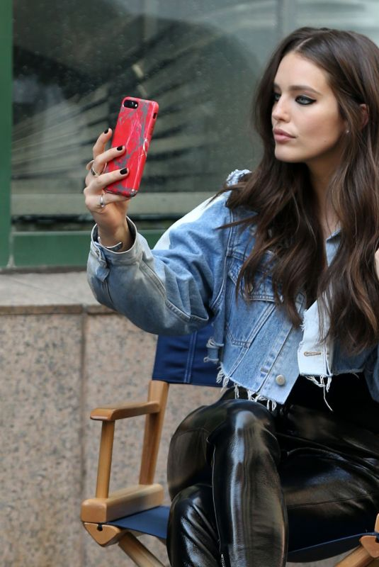 EMILY DIDONATO on the Set of Maybelline Commercial in New York 04/15/2018
